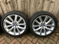 BMW Original 520 5 series Alloy Wheels 19 inch V331 V-spoke (Like NEW)