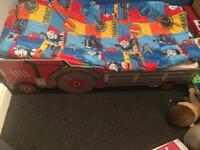 Toddler tractor bed with or without mattress & bedding see info