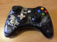 Limited Edition Official Halo Xbox 360 Controller + Wireless Gaming Receiver for PC Gaming