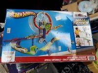 Hot Wheels car track toy.