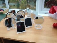 11 small mirrors - various