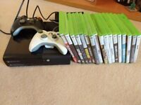 XBOX 360 e with 2 Wireless Controllers, 16 games and power lead