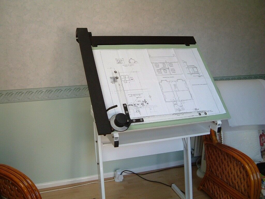 Drawing Board (A1 Size) with Drafting Machine. Ideal for Producing House Plans and Alterations