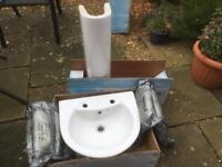 Small bathroom basin & pedestal