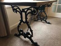 Pub style table with handmade wooden top DINING TABLE DESK SEWING CRAFT TABLE SHABBY CHIC