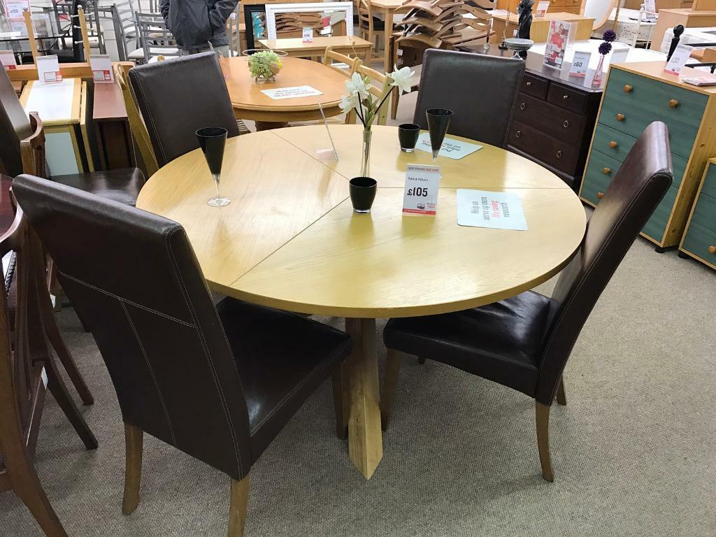 Round Dining Table With 4 Chairs Sale