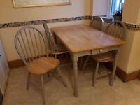 Farmhouse Style Table & 4 Chairs