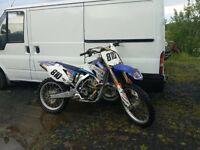 Yzf250 yamaha scrambler motocross bike