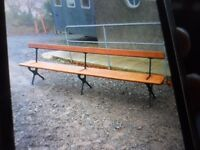 old Sunday school benches