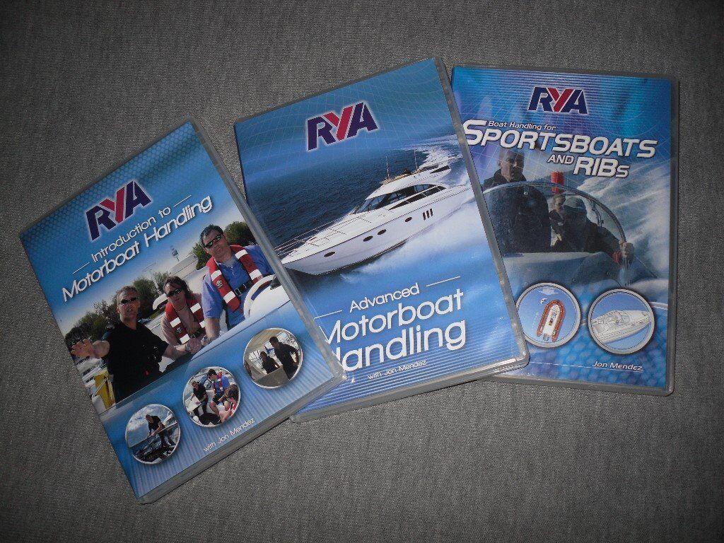 RYA DVDsin Epsom, SurreyGumtree - Three RYA DVDs, Sportsboats and Ribs (dvd22) Motorboat Handling (dvd 28) and Advanced Motorboat Handling (dvd 29). All as new condition £28 the lot including UK postage