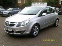 Vauxhall Corsa 1.2 i 16v SXi 3dr 2008 (08 REG), SILVER, 74000 MILES, 1 OWNER FROM NEW, BARGAIN