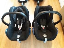 USED Maxi-Cosi CabrioFix Group 0+ Baby Car Seat & Maxi-Cosi Easybase 2 and Easyfix Base
