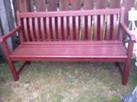 Alexander Rose hardwood garden bench free local delivery