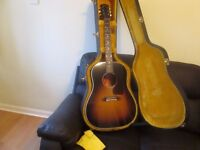 Gibson J 45 Standard acoustic electric Tobacco Sunburst .great condition never gigged