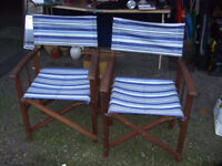 Posh garden chairs - deck chairs