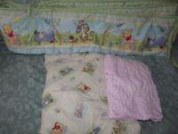 cot bed bumper and sheets
