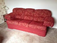 3 Piece Suite (3 Seater, 2 Seater and Foot Stool)