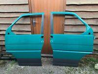 Pair of VW T4 Transporter front doors Green