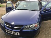 Blue Nissan Almera for Sale (54 Reg, Diesel, Reliable)