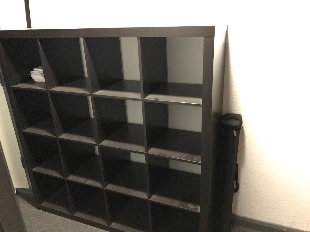 IKEA KALLAX- black brown unit