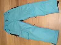 Childs ski trousers and ski gloves