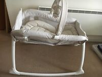 Graco Little Lounger rocking/vibrating crib in ex condition