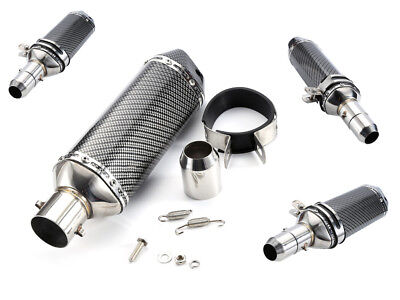 Universal Motorcycle Short Exhaust Muffler Silencer Slip-on Killer Pipe 38-51mm
