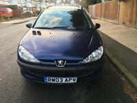 Peugeot 206 SW 1.4 HDI TD XL ESTATE £30 Road Tax. *DIESEL*
