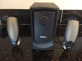 Two speakers and sub-woofer in great condition for sale