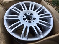 "GENUINE MERCEDES E CLASS 18"" W211 S211 10 DOUBLE SPOKE ALLOY WHEEL REAR 9JX18"