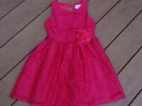 Bloome (de jauna fille) girls cerise pink lace dress age 5-6 yrs in immaculate cond.