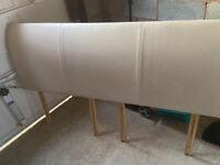 Super King Headboard in beige/stone (selling from Sedgefield)