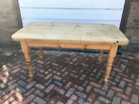 OLD LARGE PINE FARMHOUSE TABLE 153cm x 81cm