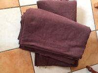 Chocolate brown lined chenille curtains 90x72