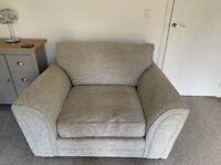 SCS Lucy Light Grey 3 Seater Sofa & Light Grey Snuggler Chair (North Leeds)