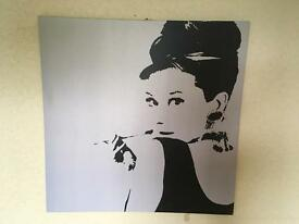 Large Audrey Hepburn canvas
