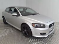 2008(08)VOLVO C30 R-DESIGN SPORT 1.6 DIESEL MET SILVER,FSH,LEATHER,LOVELY CAR,GREAT VALUE