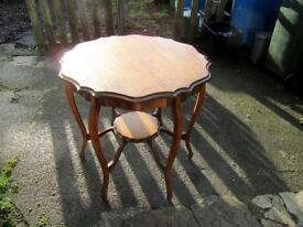 Small Table with Curved Legs