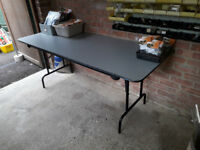 Two large trestle tables