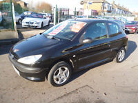 Peugeot 206 lx,1400cc petrol 3 door hatchback,clean tidy car,runs and drives very well,economical