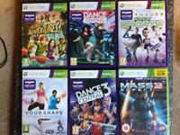 Microsoft Xbox 360 Kinect Sensor With Power Cable and 11 Kinect Based Games
