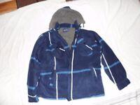 Mens Size M Hooded Tartan Shirt Fleece Lined New