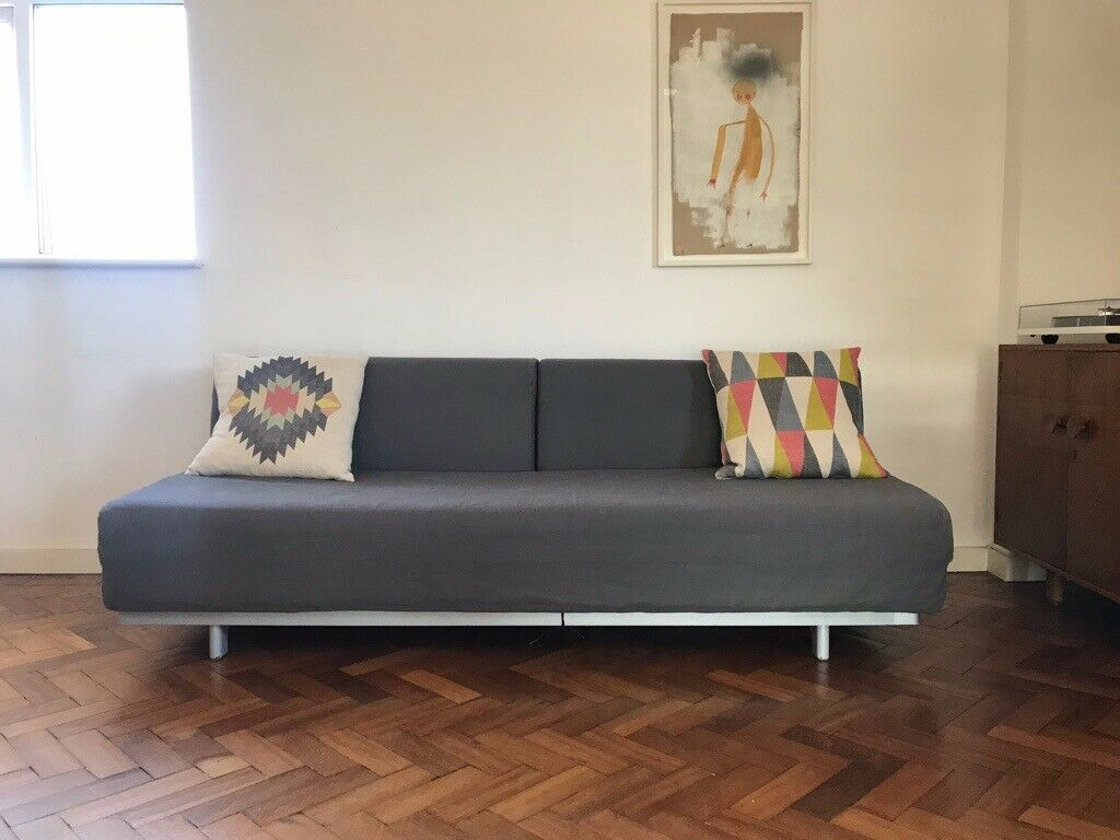 Muji T2 Sofa Bed Beautiful Grey Fabric