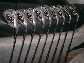 FULL SET OF SPALDING PARADOX IRONS-3 to 9 plus PITCHING WEDGE AND SAND WEDGE