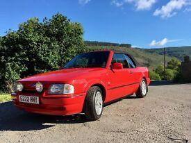 Escort Xr3i convertible 1990