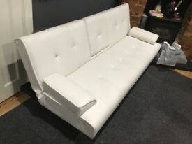 Couch Bed Contemparary style in White