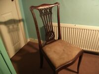 Antique Vintage Edwardian Bedroom Chair W/Mahogany Inlays