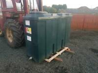 1000 litre slim line bunded oil tank or diesel storage tank