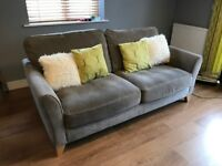 SOLD - Debenhams Fyfield three seater sofa in grey