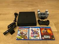 PS4 with camera and 3 controllers +games